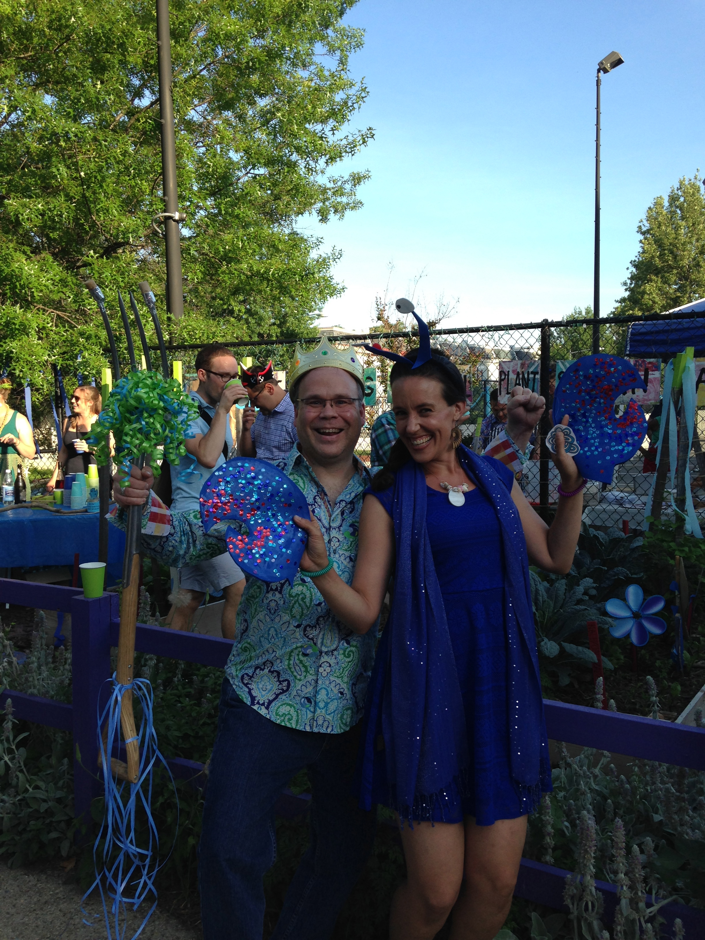 City Blossoms Board Member Todd Harper and CB Co-Founder and Co-Executive Director Lola Bloom enjoy a moment in the Octopus's Garden