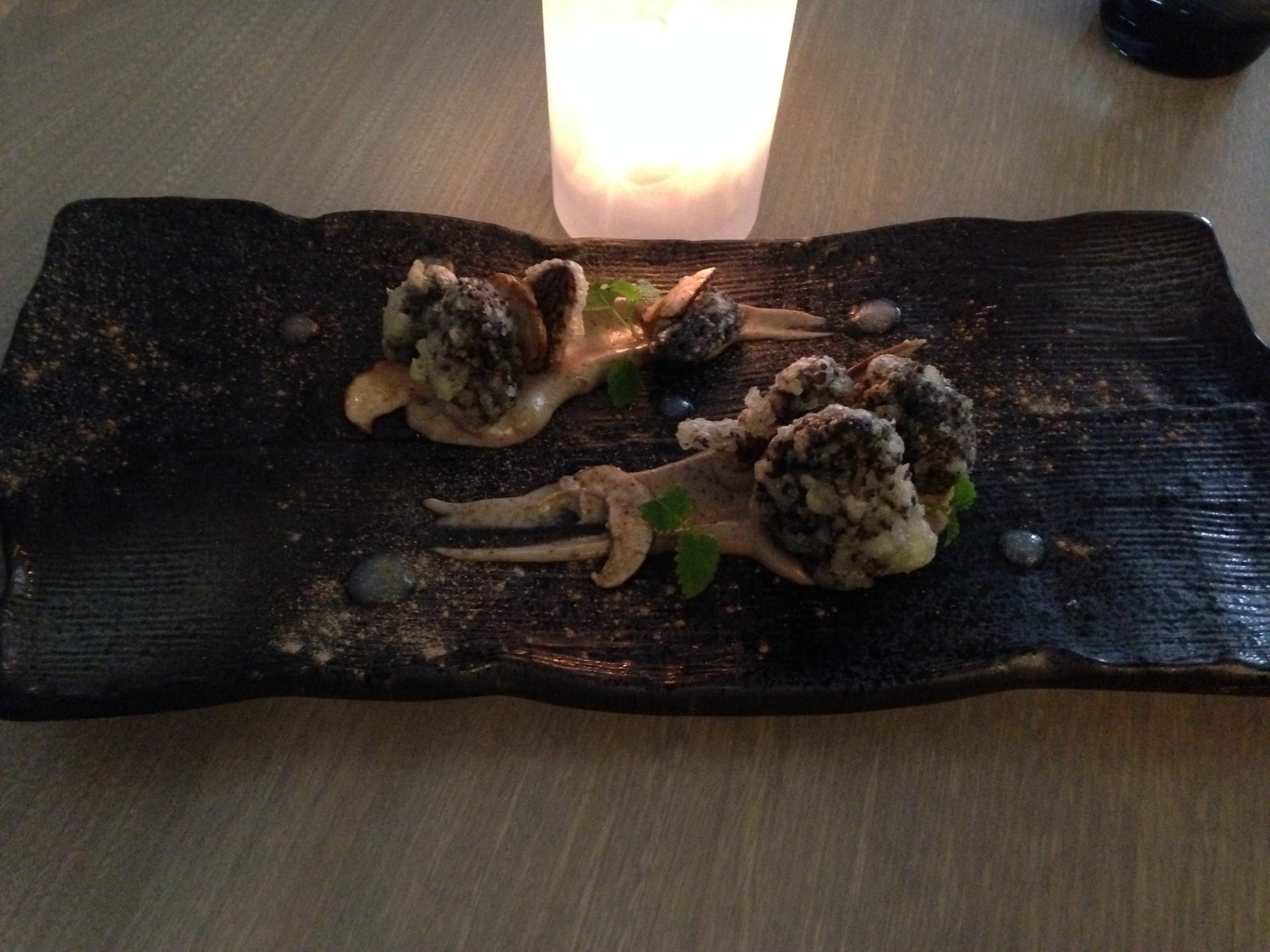 Morels, whipped mushroom, pickled onion, herbs